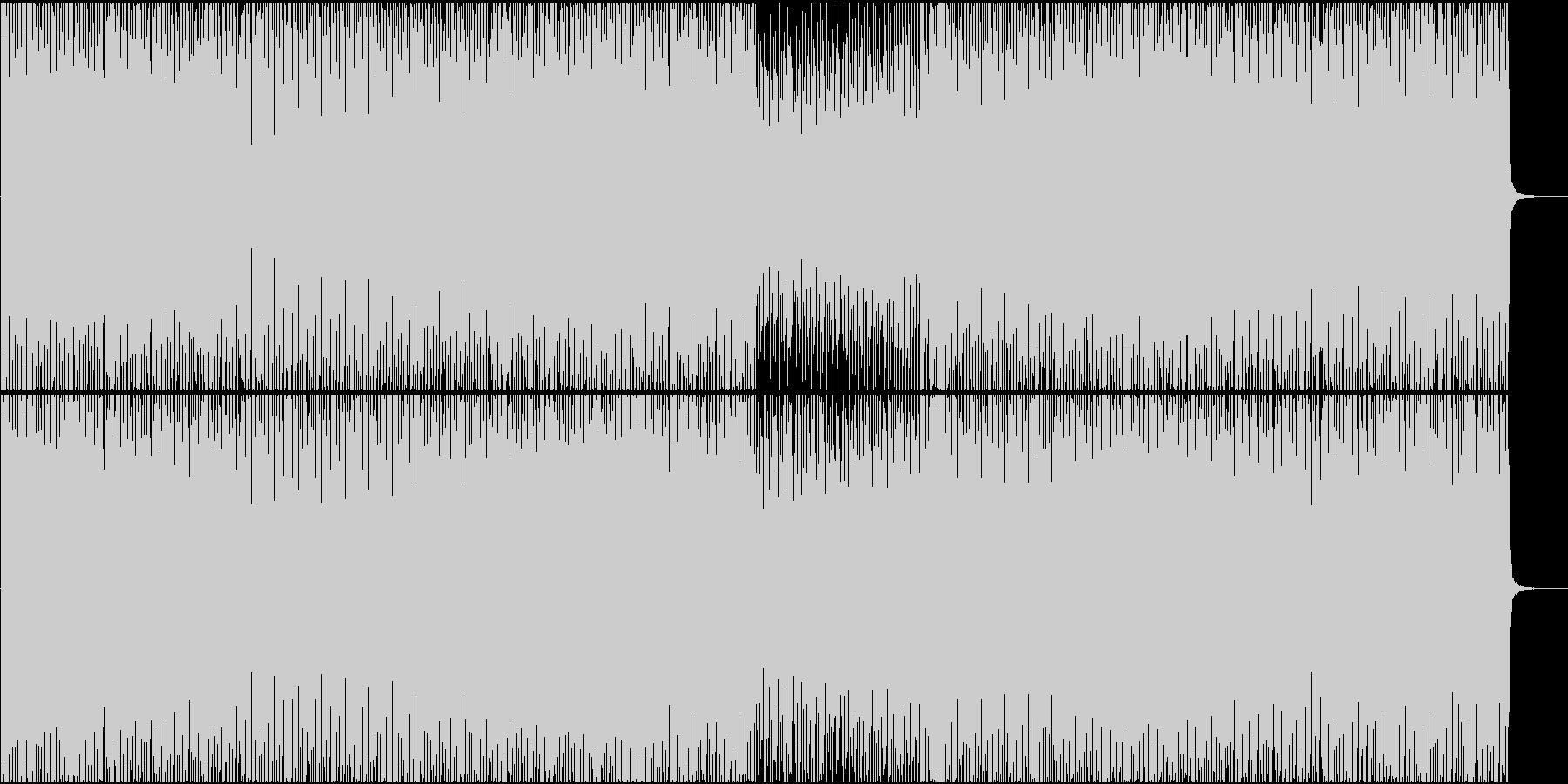 EDM系BGM(途中ボーカルなし)の未再生の波形