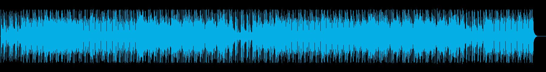 ミステリアスな雰囲気のテクノBGMの再生済みの波形