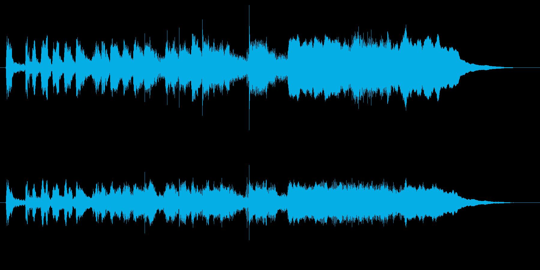 ゆるい感じのファンファーレの再生済みの波形