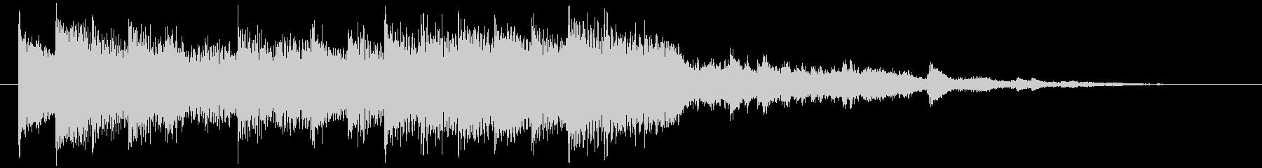 シンプルでエレガントなピアノジングルの未再生の波形