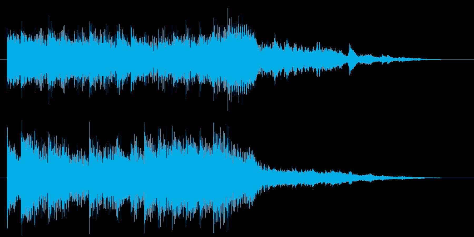 シンプルでエレガントなピアノジングルの再生済みの波形