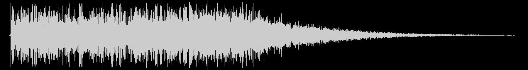 ロック調な激しい正解時サウンドの未再生の波形
