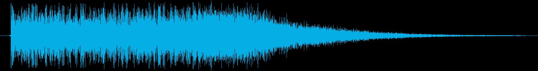 ロック調な激しい正解時サウンドの再生済みの波形