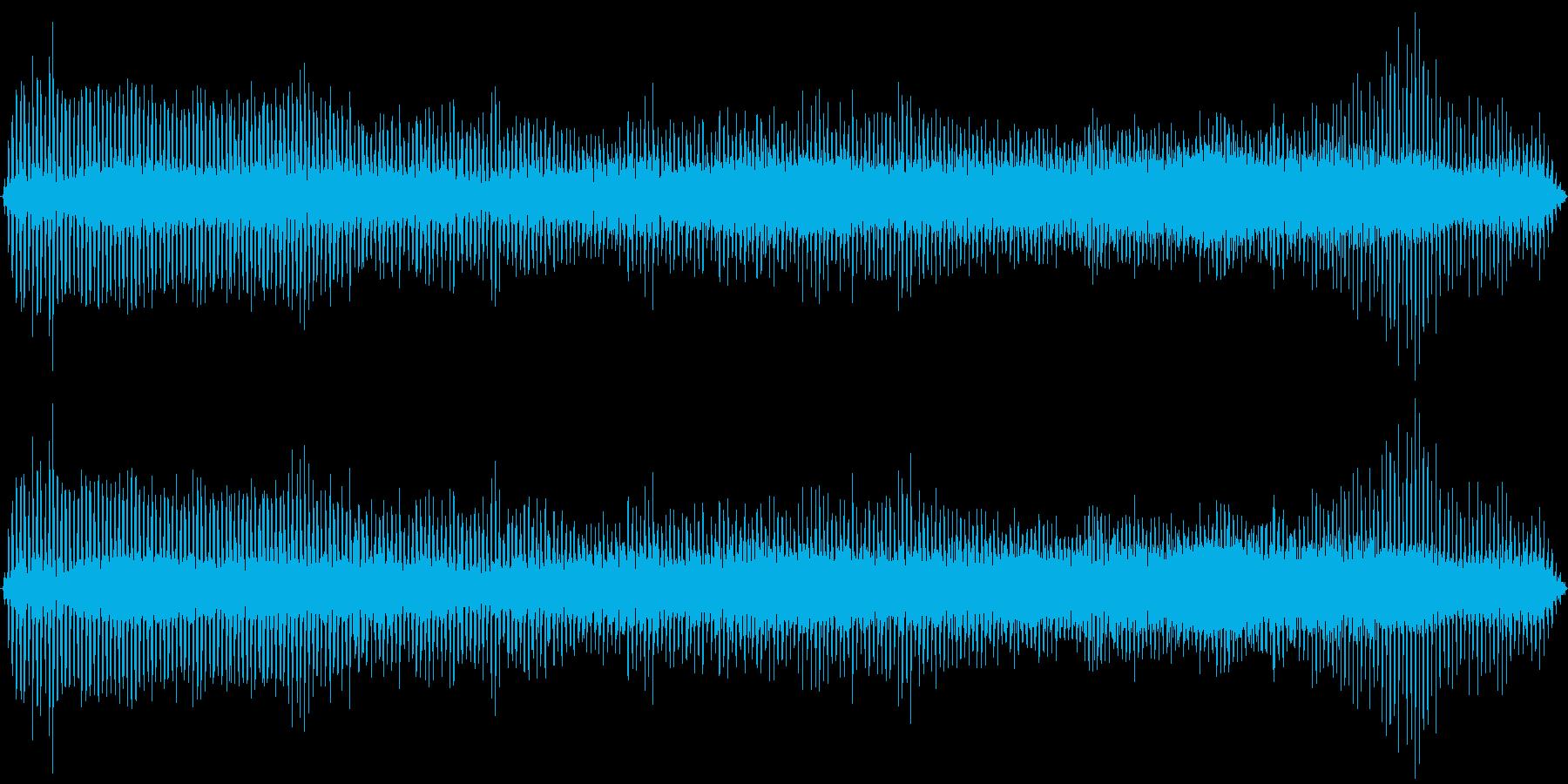 ヘリコプター着陸の再生済みの波形