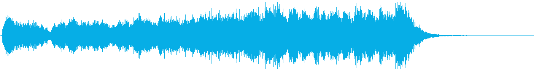 躍動的に盛り上がるフルオケジングル合唱抜の再生済みの波形