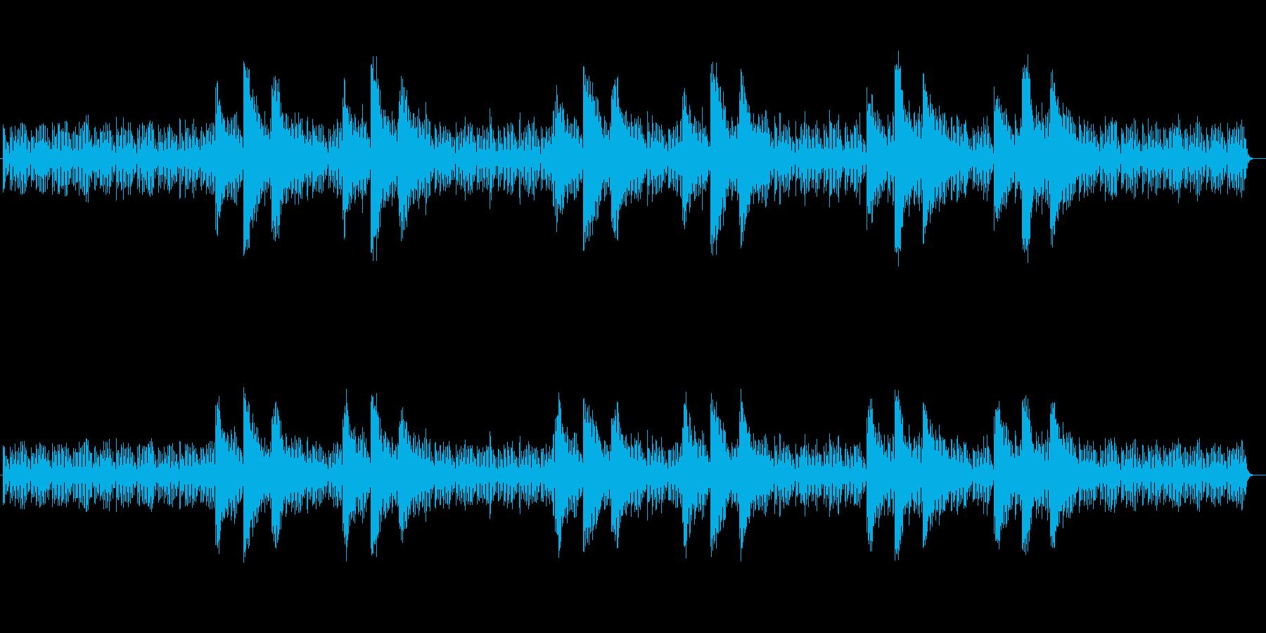 神秘的な印象シンセサイザーサウンドの再生済みの波形