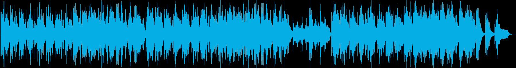 ゆったりしたシンセ・ピアノサウンドの再生済みの波形
