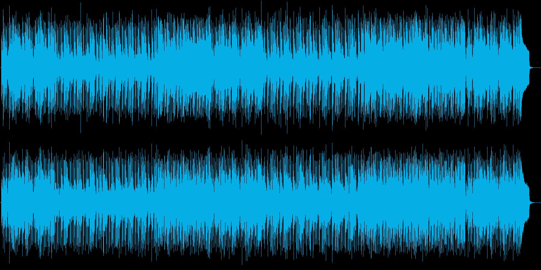 オシャレで可愛い雰囲気のある曲の再生済みの波形