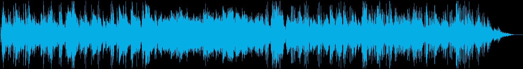 ノスタルジックなジャズBGMの再生済みの波形