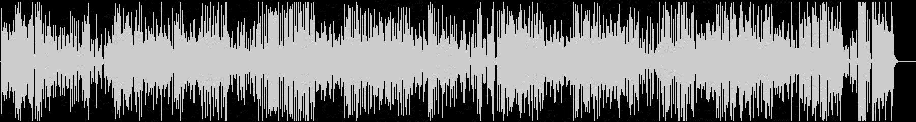 アップテンボなハウスミュージックの未再生の波形