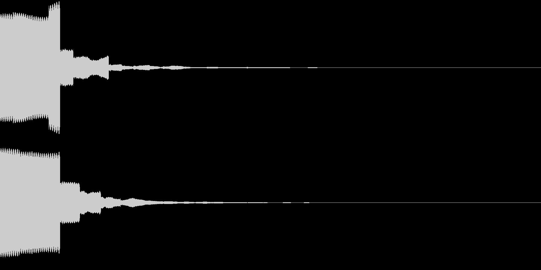 決定/ボタン押下音(鋭い電子音)の未再生の波形