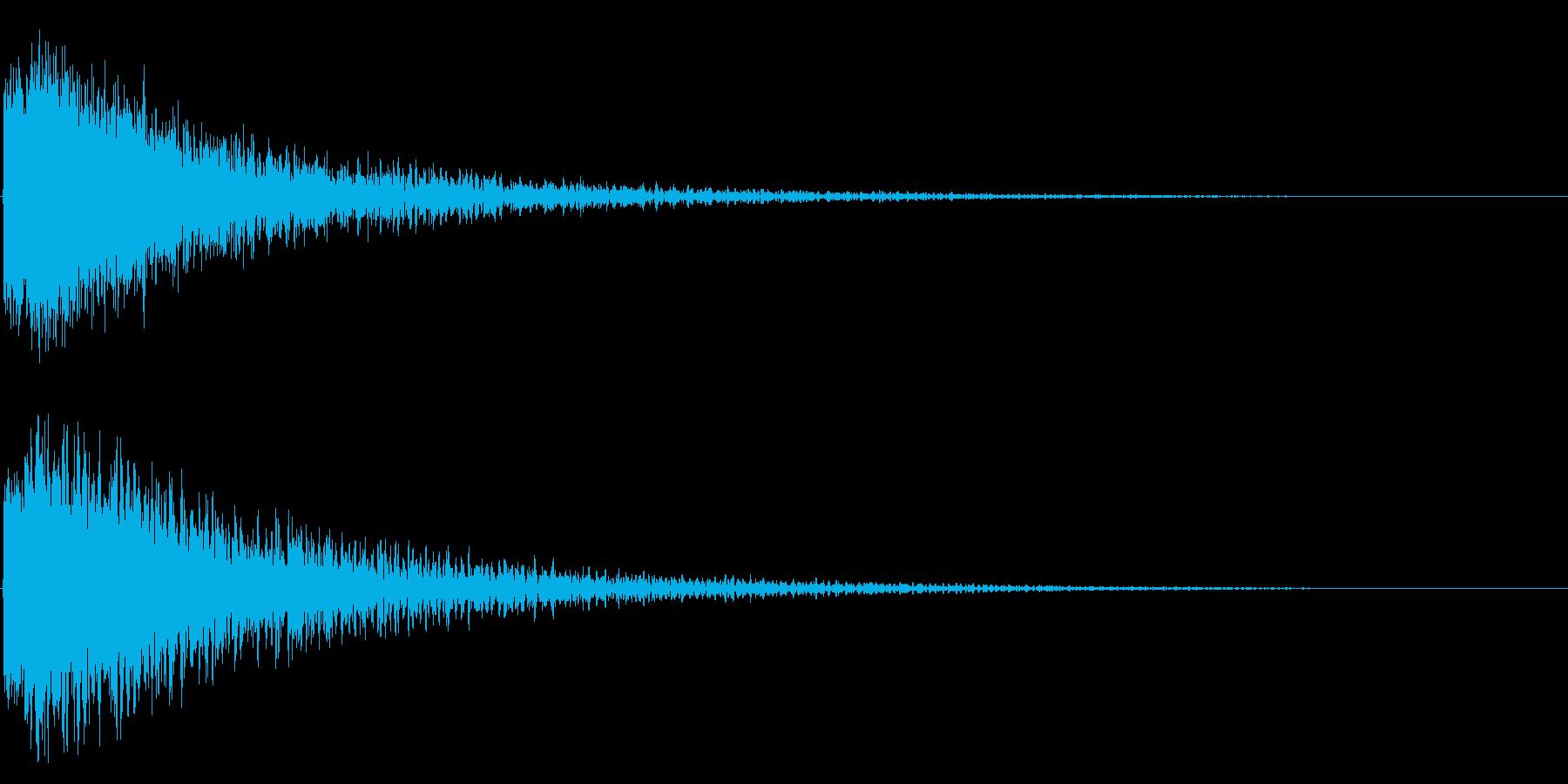 シャキーン打撃 必殺技や最後の一撃1DVの再生済みの波形