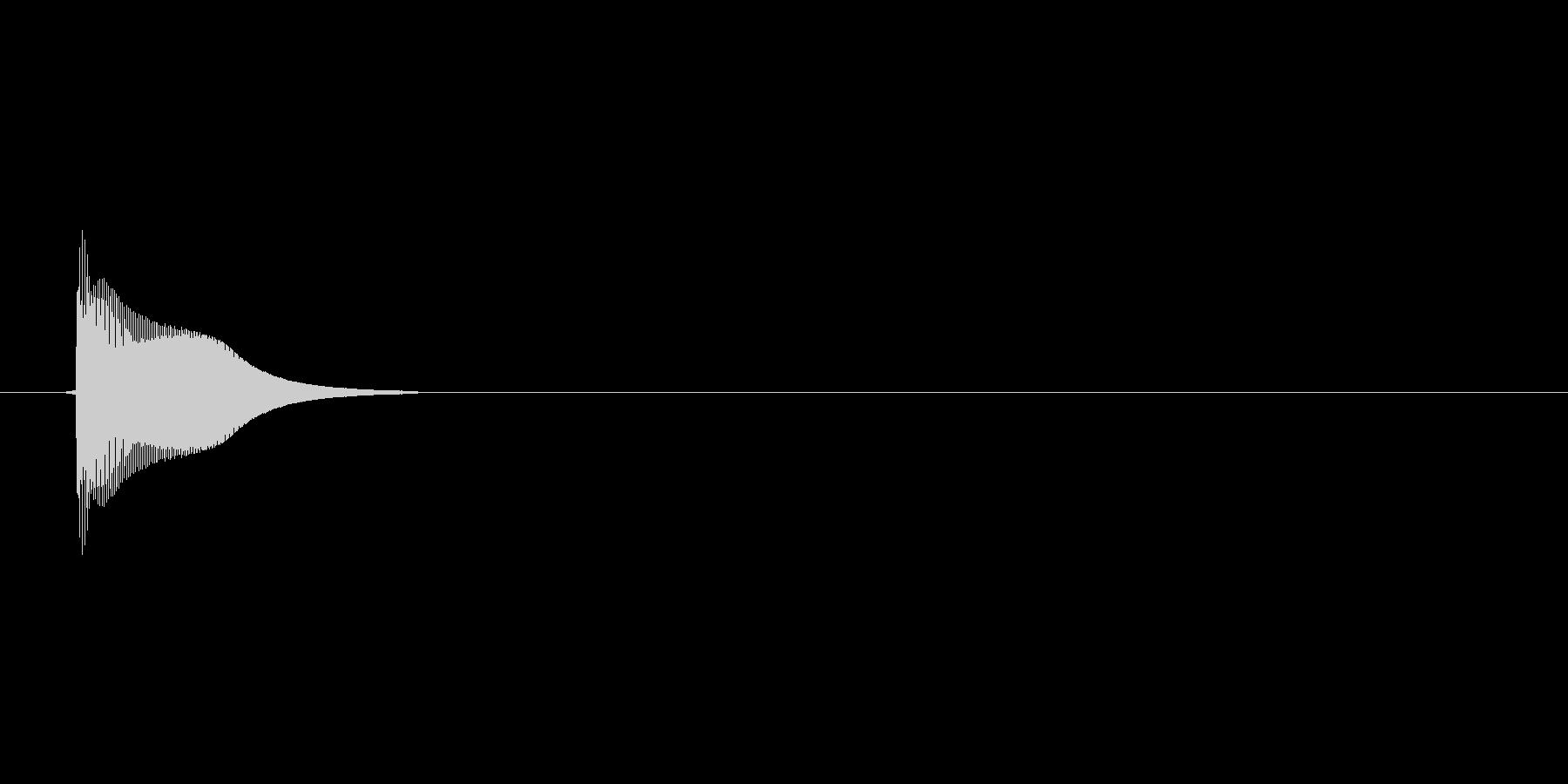ピッ(選択音、カーソル、選ぶ)の未再生の波形