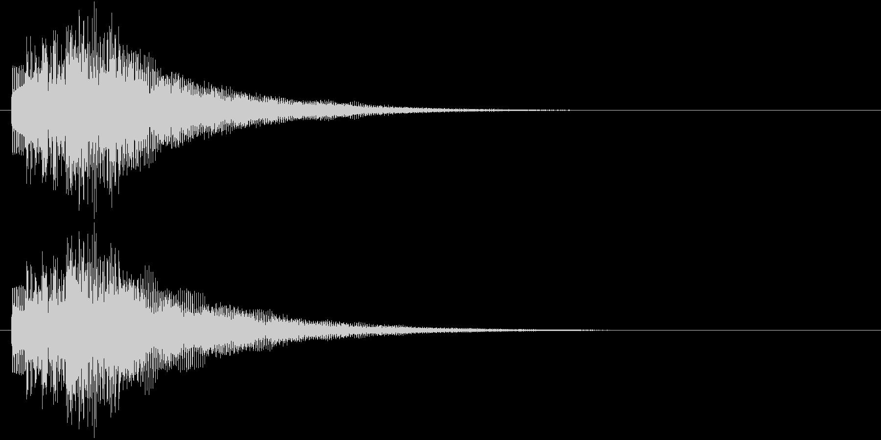 レベルアップ時や、ステータスが上がった…の未再生の波形