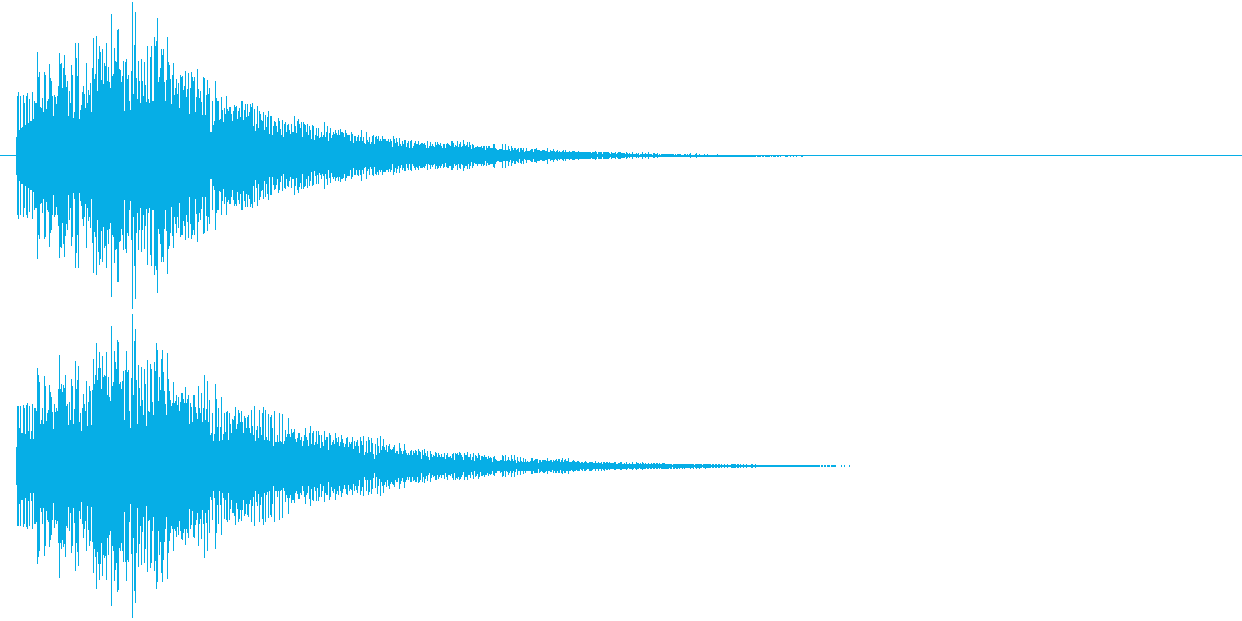 レベルアップ時や、ステータスが上がった…の再生済みの波形