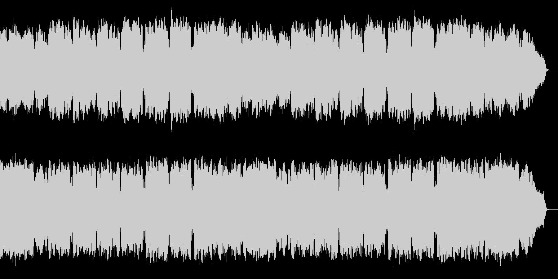 クラリネットが演奏する優しい唱歌の様な曲の未再生の波形