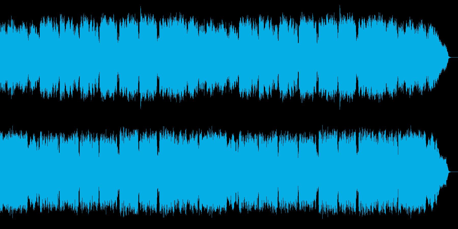 クラリネットが演奏する優しい唱歌の様な曲の再生済みの波形