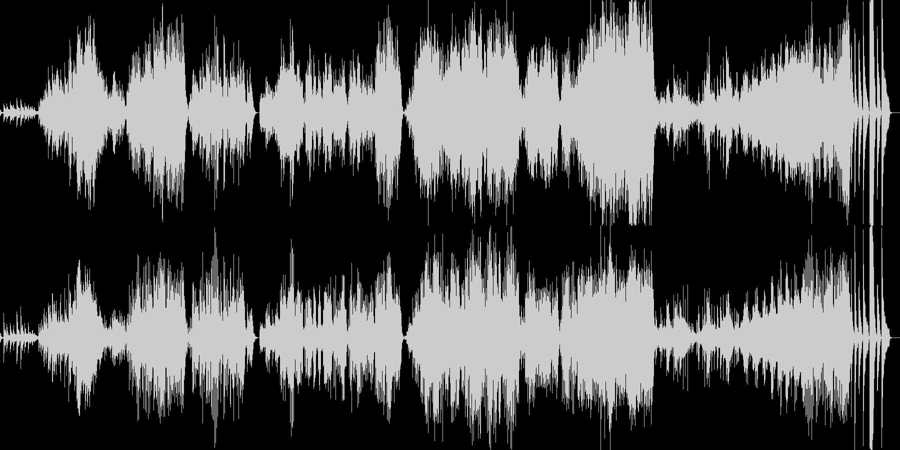 打ち水舞えば、涼風踊るピアノ曲の未再生の波形