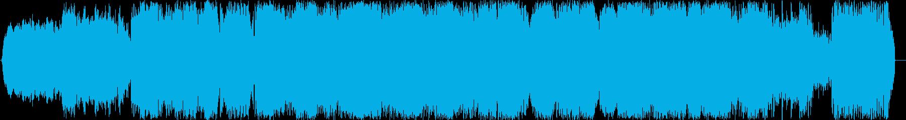 戦いをイメージして制作しました。の再生済みの波形