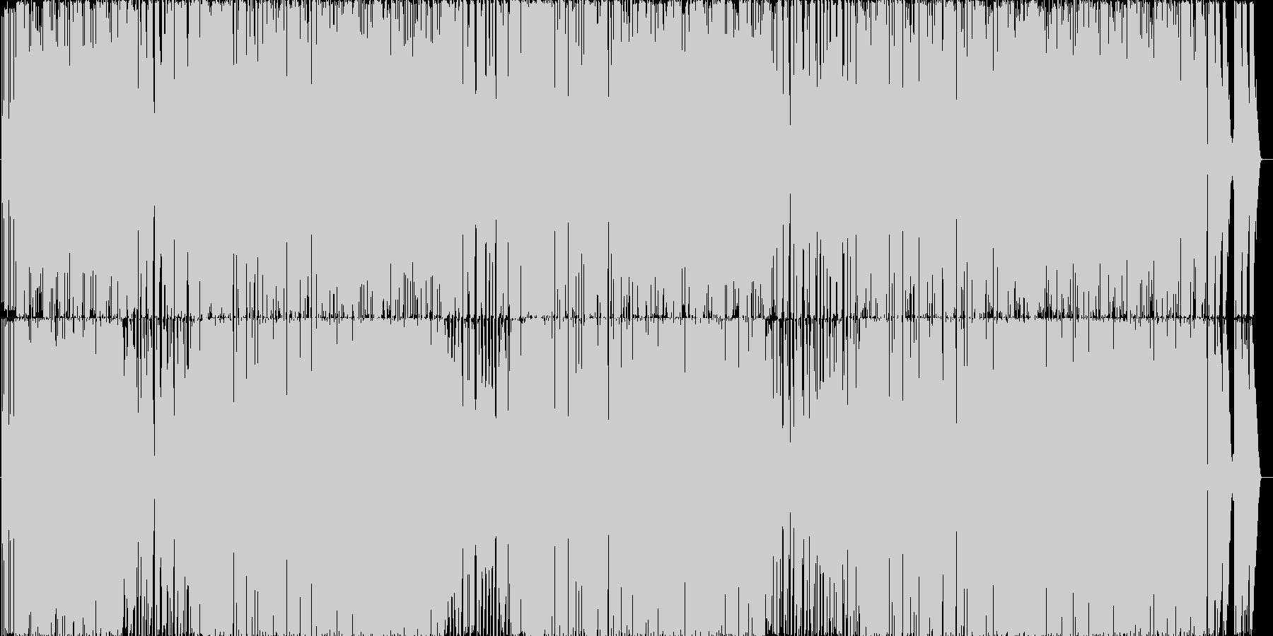 神秘的でおしゃれなポップスの未再生の波形