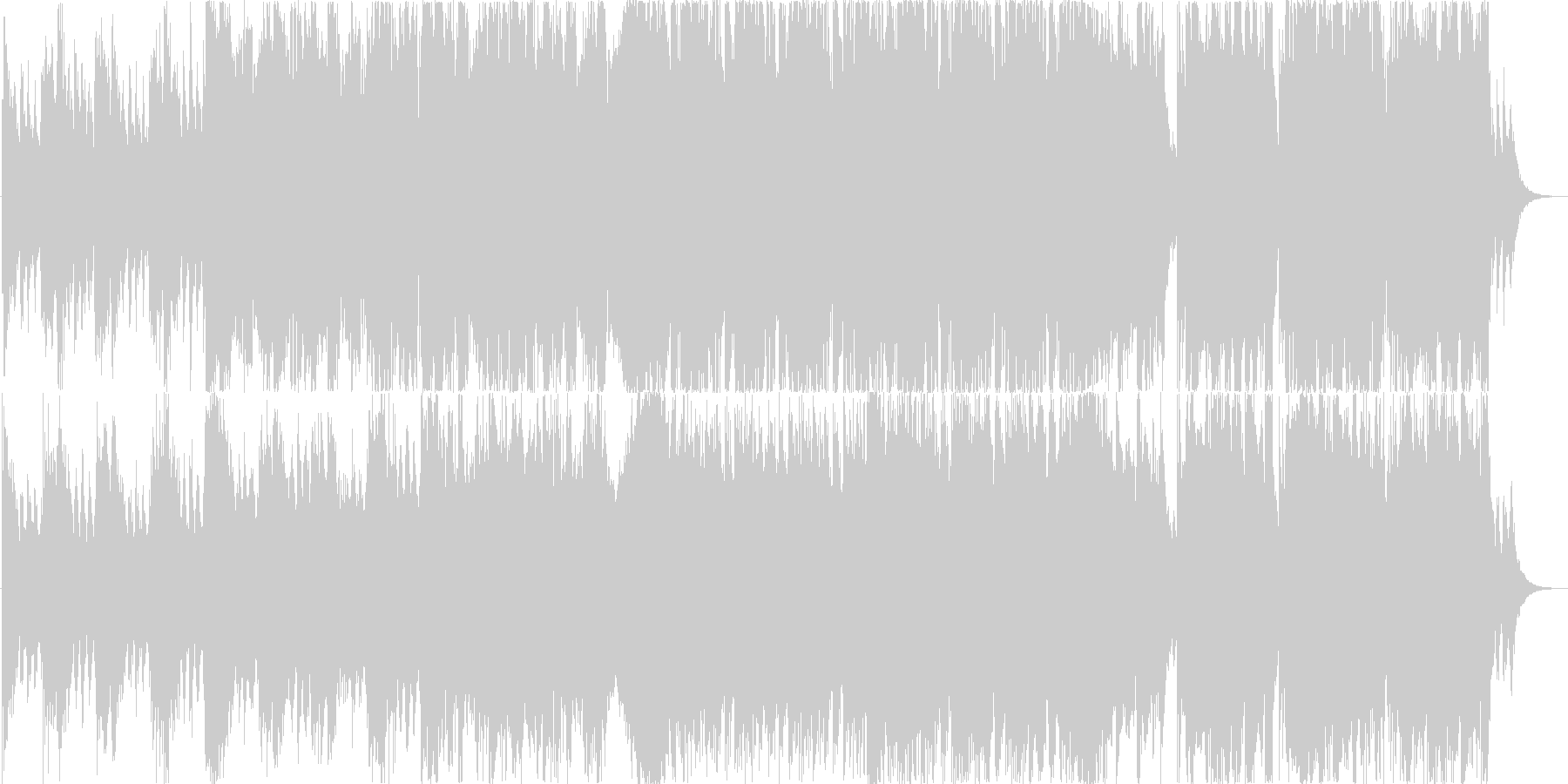 ストリングスと笛のオシャレなインストの未再生の波形