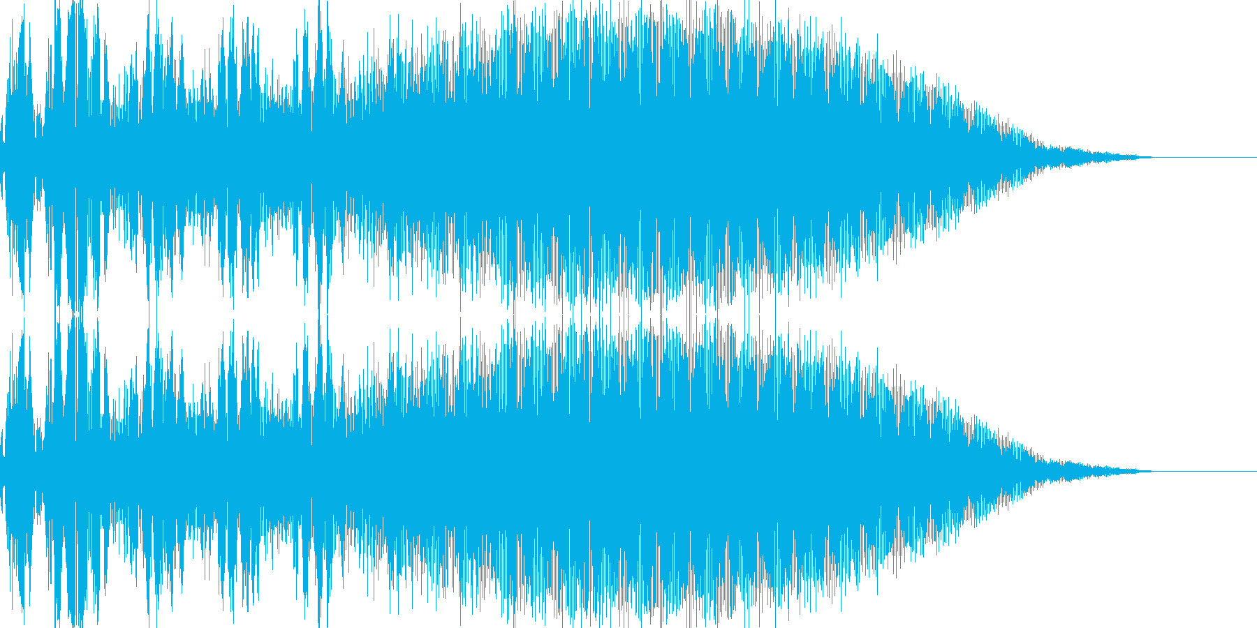 アナログドラム風「選択」「決定」音の再生済みの波形