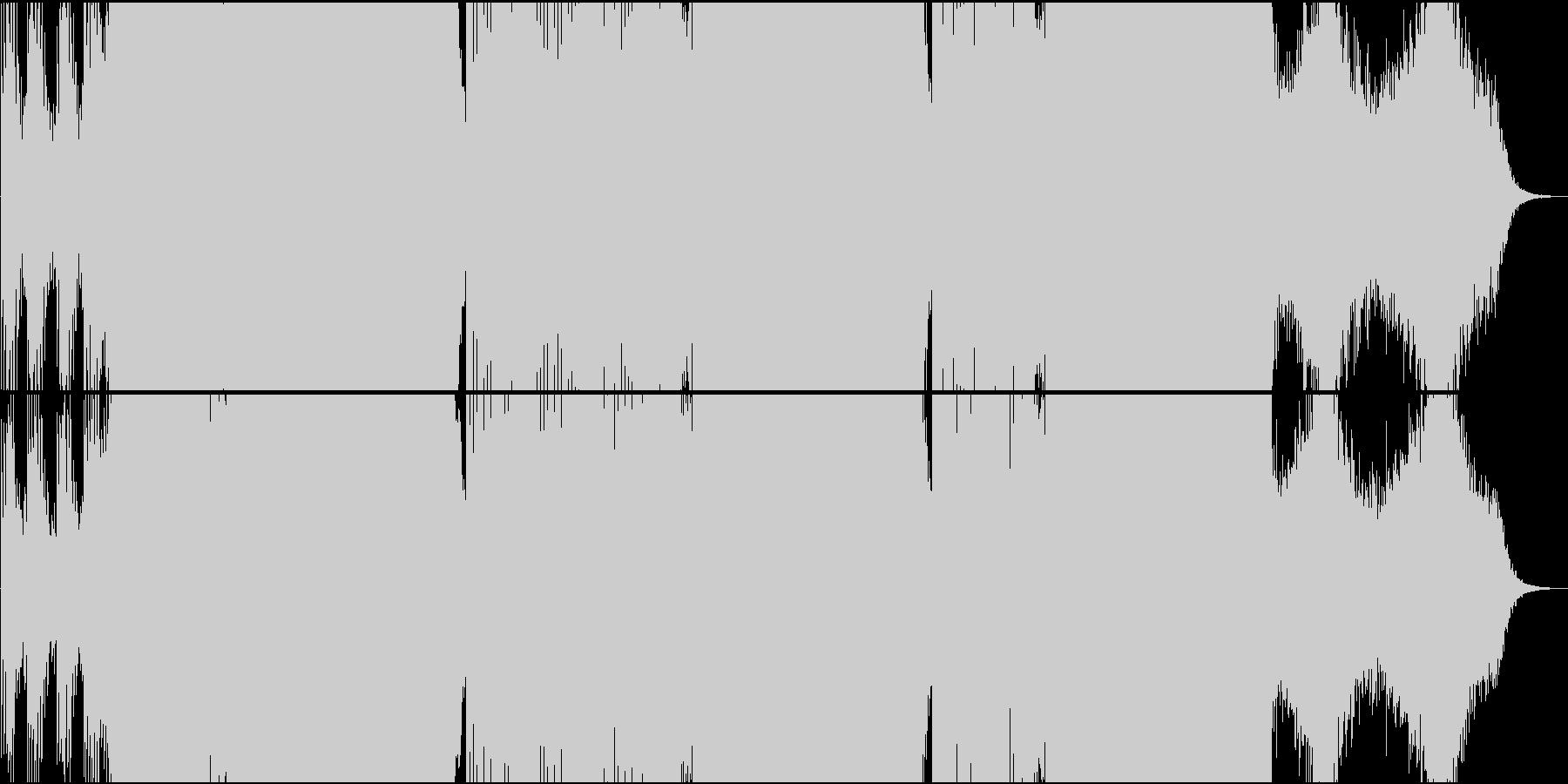 EDM映像用軽快で勇壮なシンセ系楽曲の未再生の波形