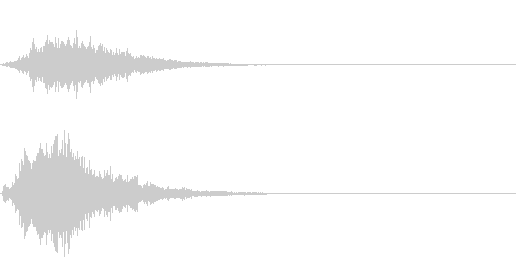サウンドロゴ・起動時の効果音(シンプル)の未再生の波形