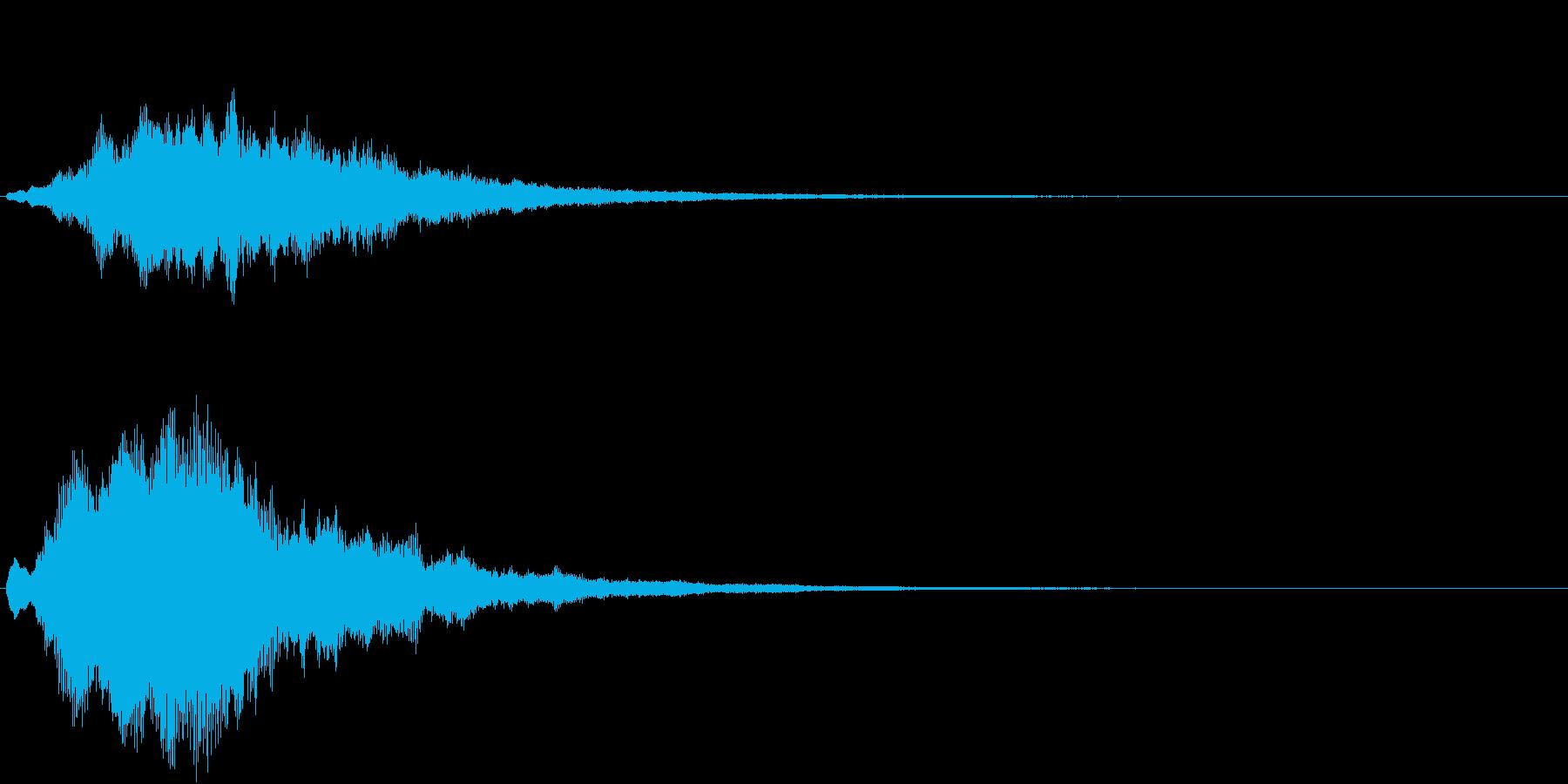 サウンドロゴ・起動時の効果音(シンプル)の再生済みの波形