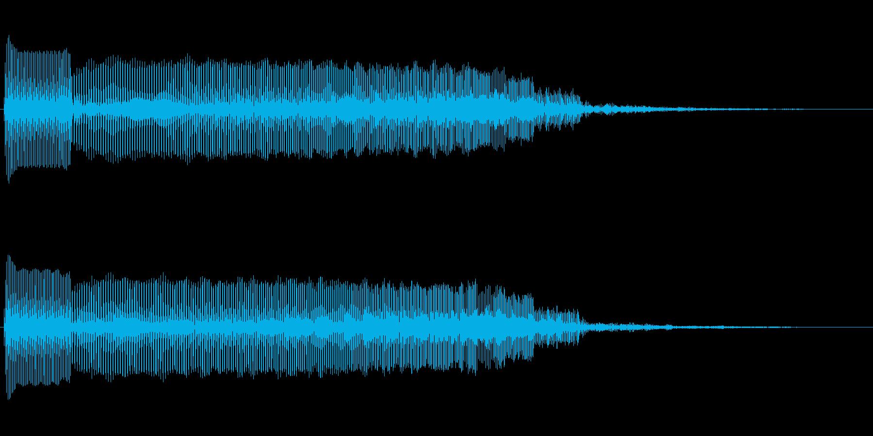 ファミコンマリオのジャンプ音風の再生済みの波形
