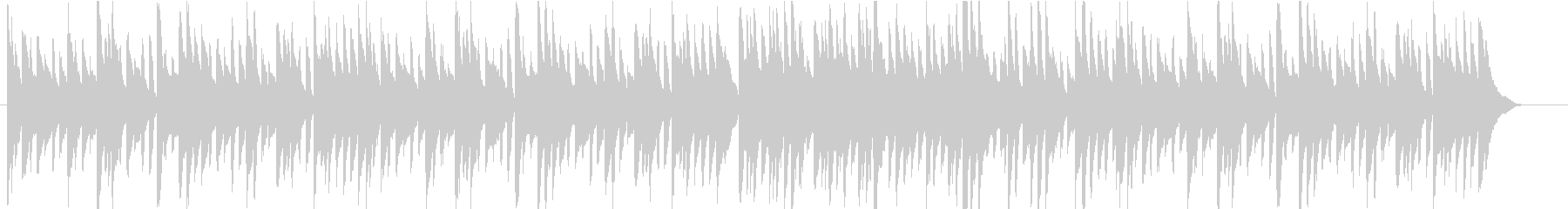 ピアノのみのクラシカルなワルツの未再生の波形