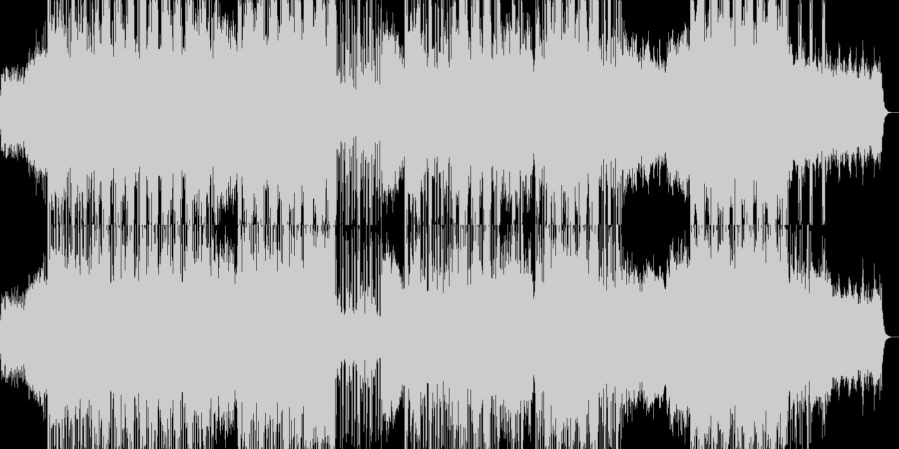 ミドルテンポのエレクトロミュージックの未再生の波形