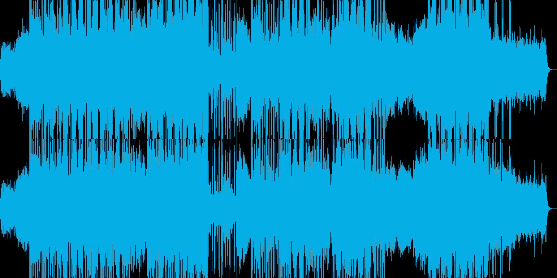 ミドルテンポのエレクトロミュージックの再生済みの波形