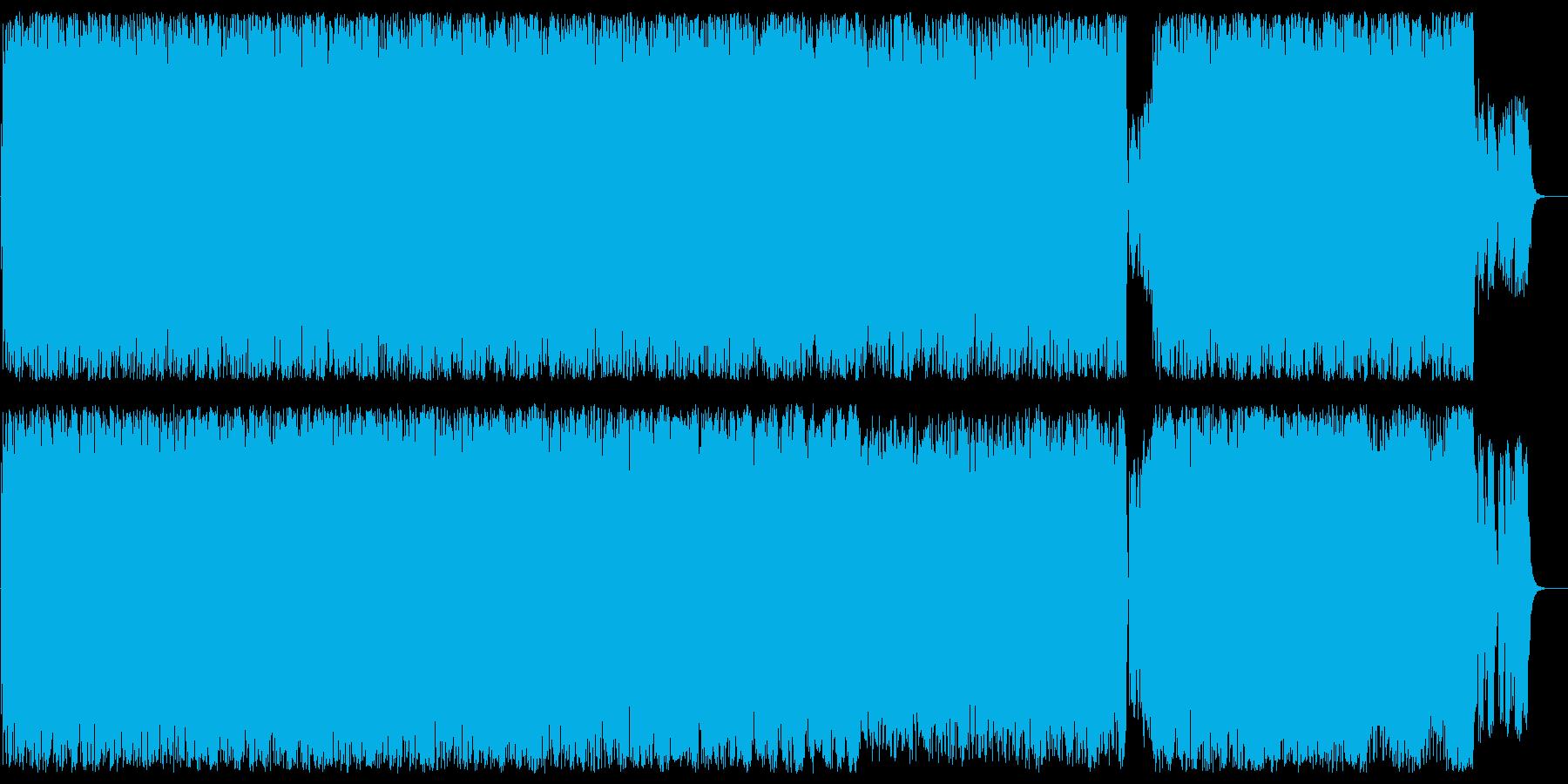 疾走感ある近未来なテクノポップの再生済みの波形