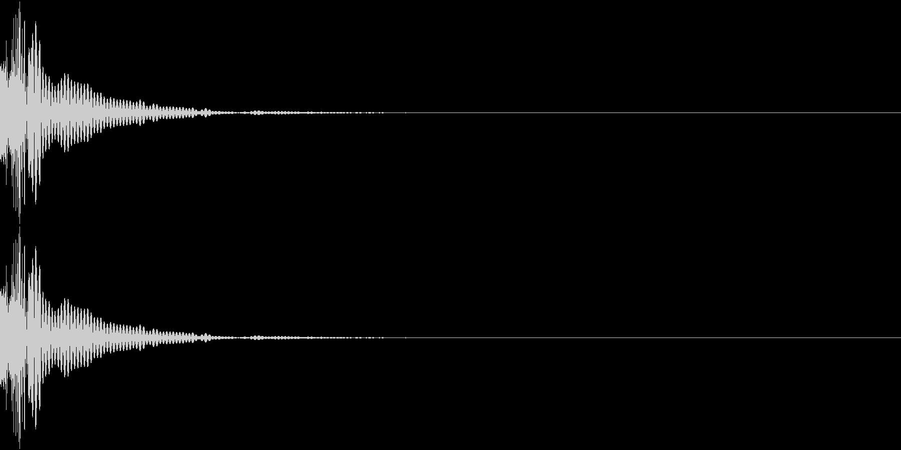 Cap フタ・栓を開ける音 8の未再生の波形