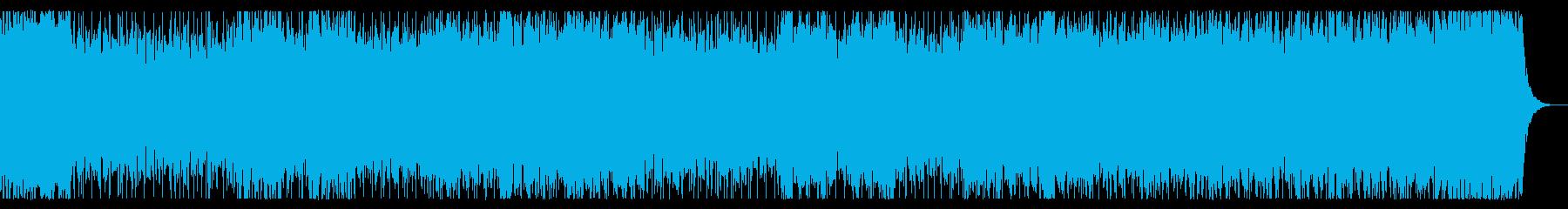 流麗なメロディ 爽快感のあるシンセBGMの再生済みの波形