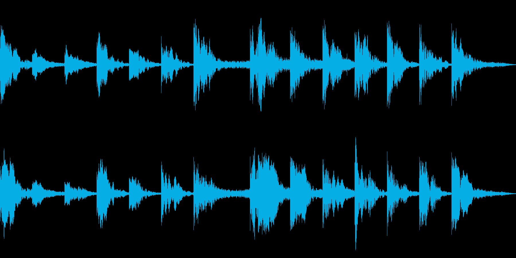 ドキュメンタリーやニュース用BGMの再生済みの波形