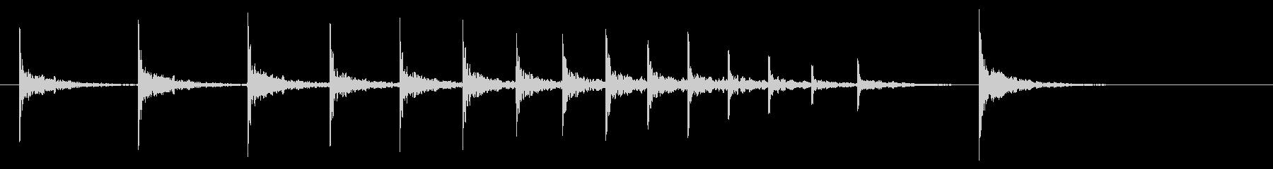 拍子木02-4の未再生の波形