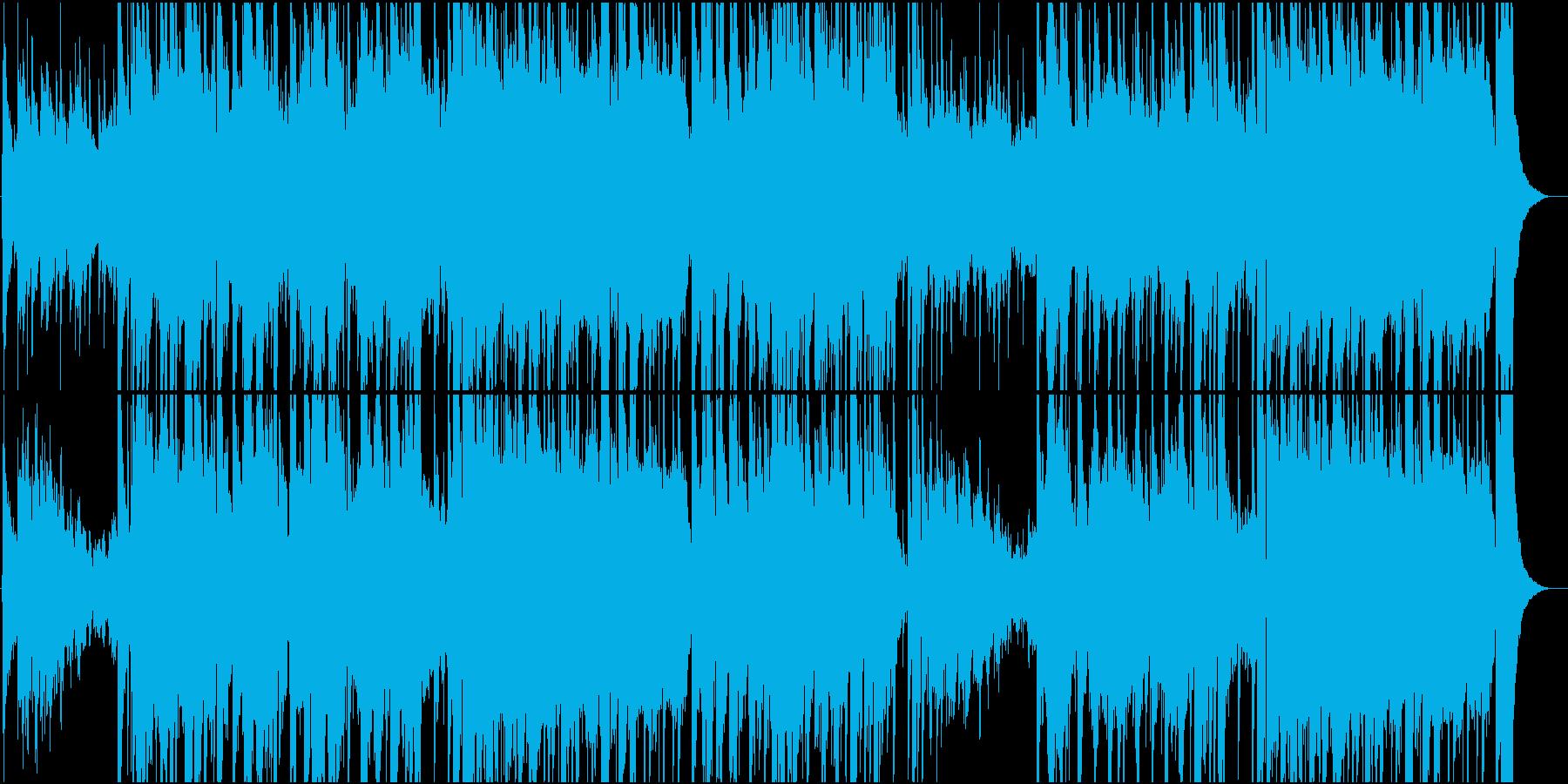 アコギとチェロのゆったりカントリー楽曲の再生済みの波形