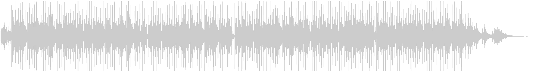 琴とピアノメインの和風BGMの未再生の波形