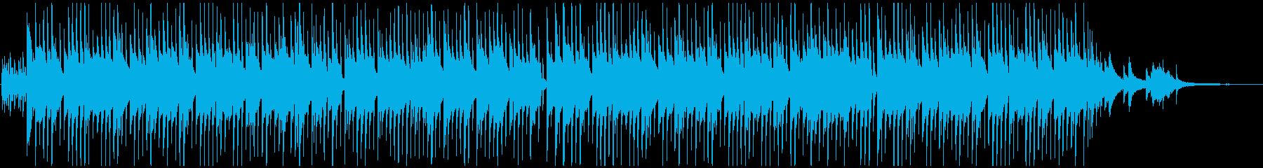 琴とピアノメインの和風BGMの再生済みの波形