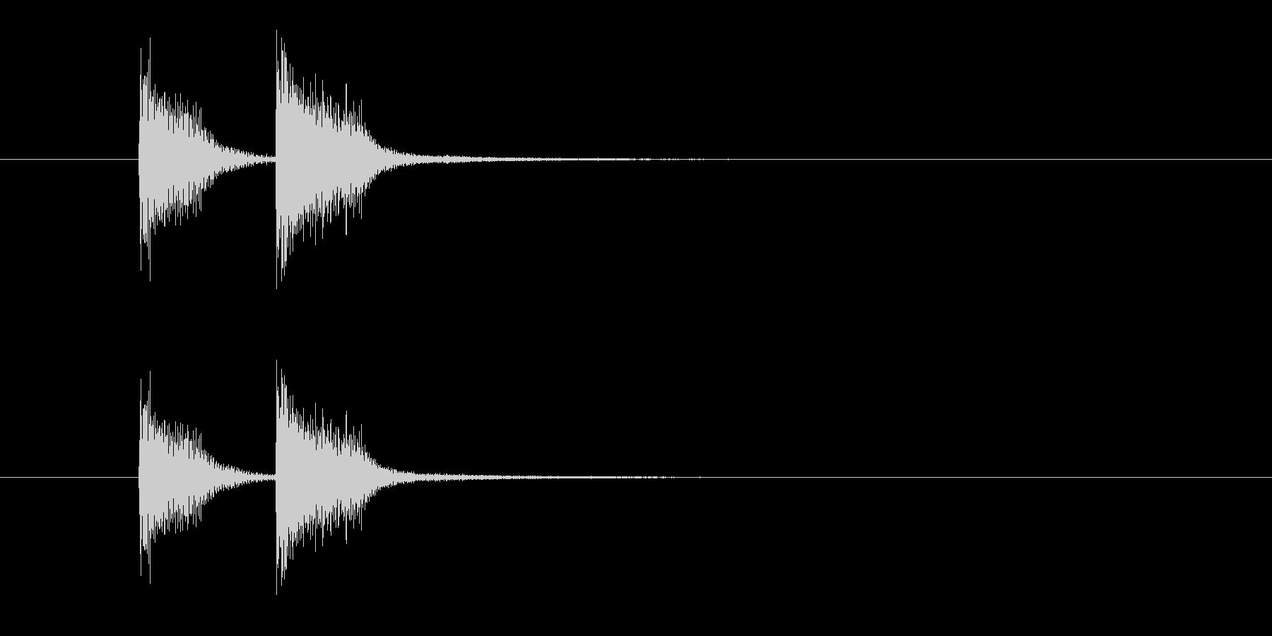 ズッ、チャン!(高音のお知らせ音決定音)の未再生の波形
