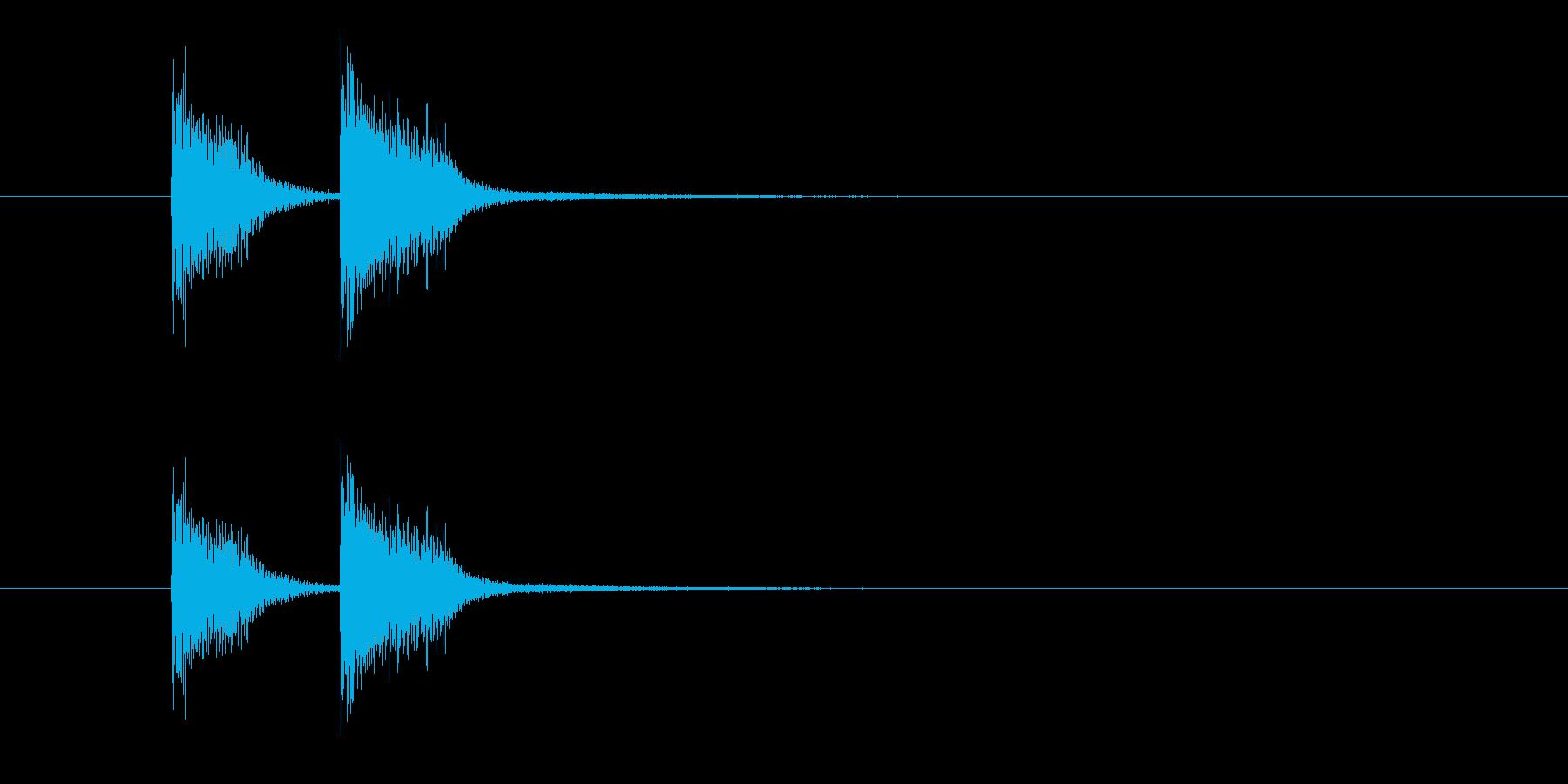 ズッ、チャン!(高音のお知らせ音決定音)の再生済みの波形