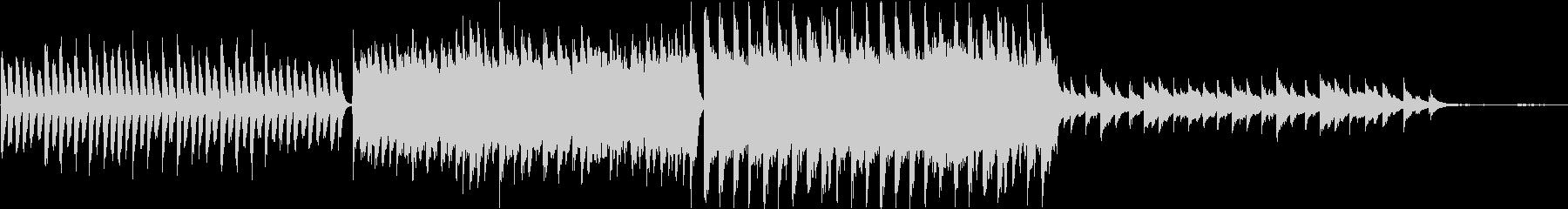 企業ムービー向けのシンプルなピアノの未再生の波形