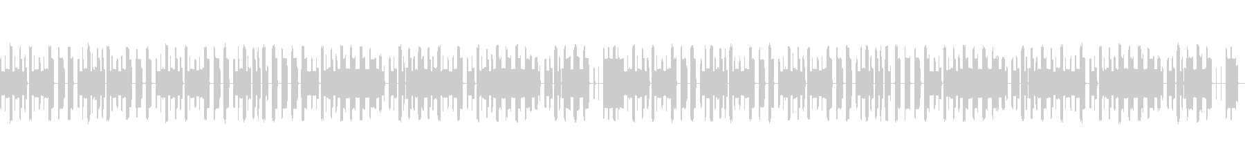 チップチューンにアレンジされたラグタイムの未再生の波形