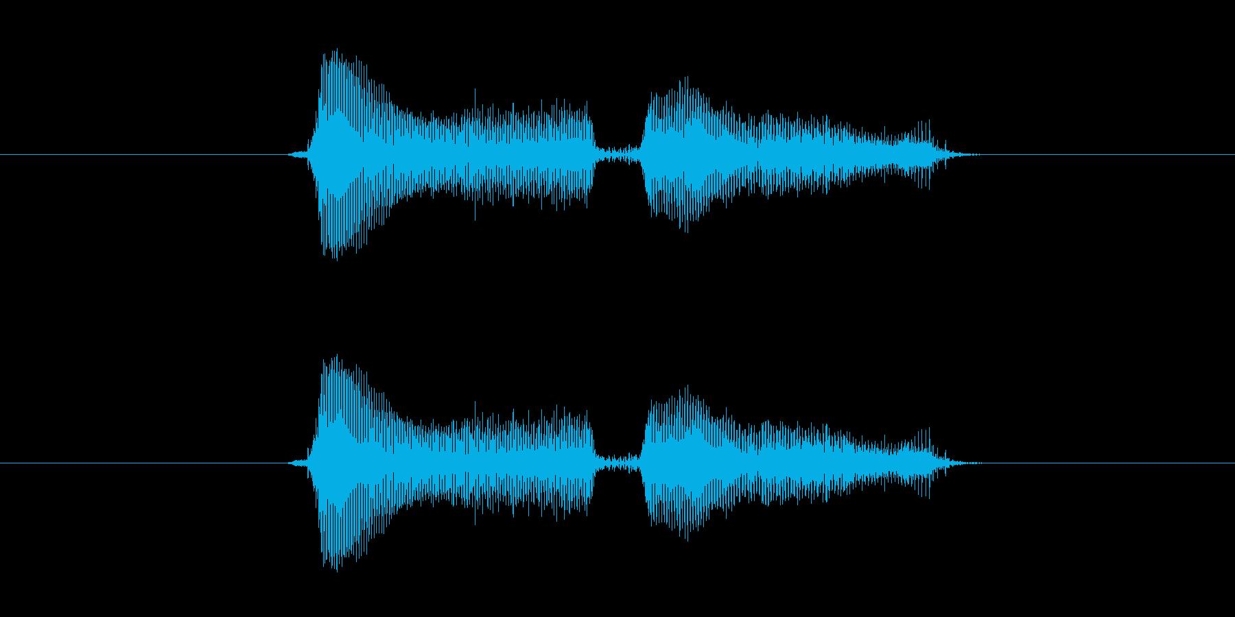 ドヤドヤの再生済みの波形