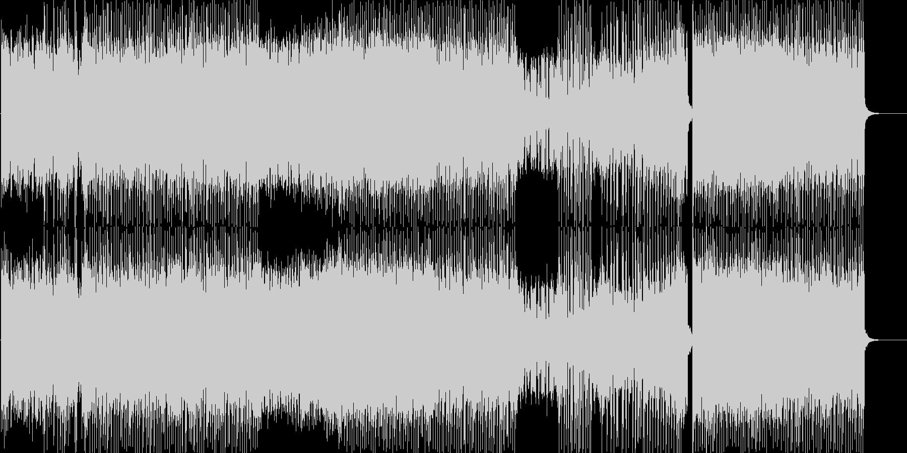 明るくて可愛い、ポップな曲の未再生の波形