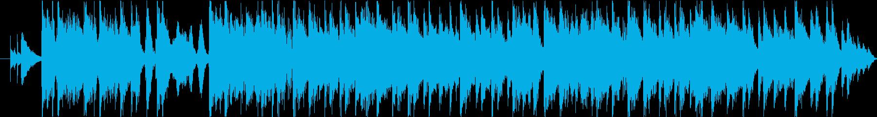 フュージョン風おしゃれジングルの再生済みの波形