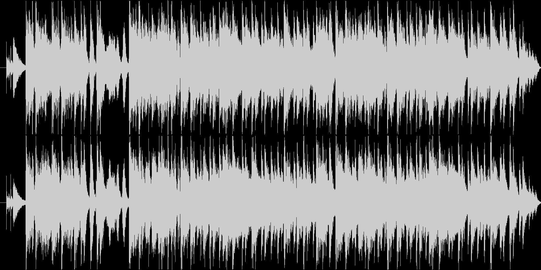 フュージョン風おしゃれジングルの未再生の波形