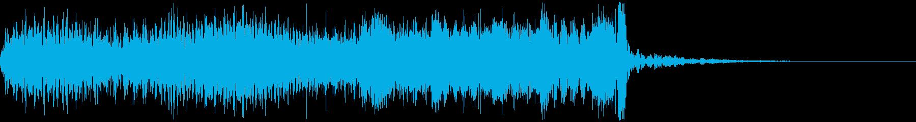 サウンドロゴ、イベント、セール告知、5秒の再生済みの波形